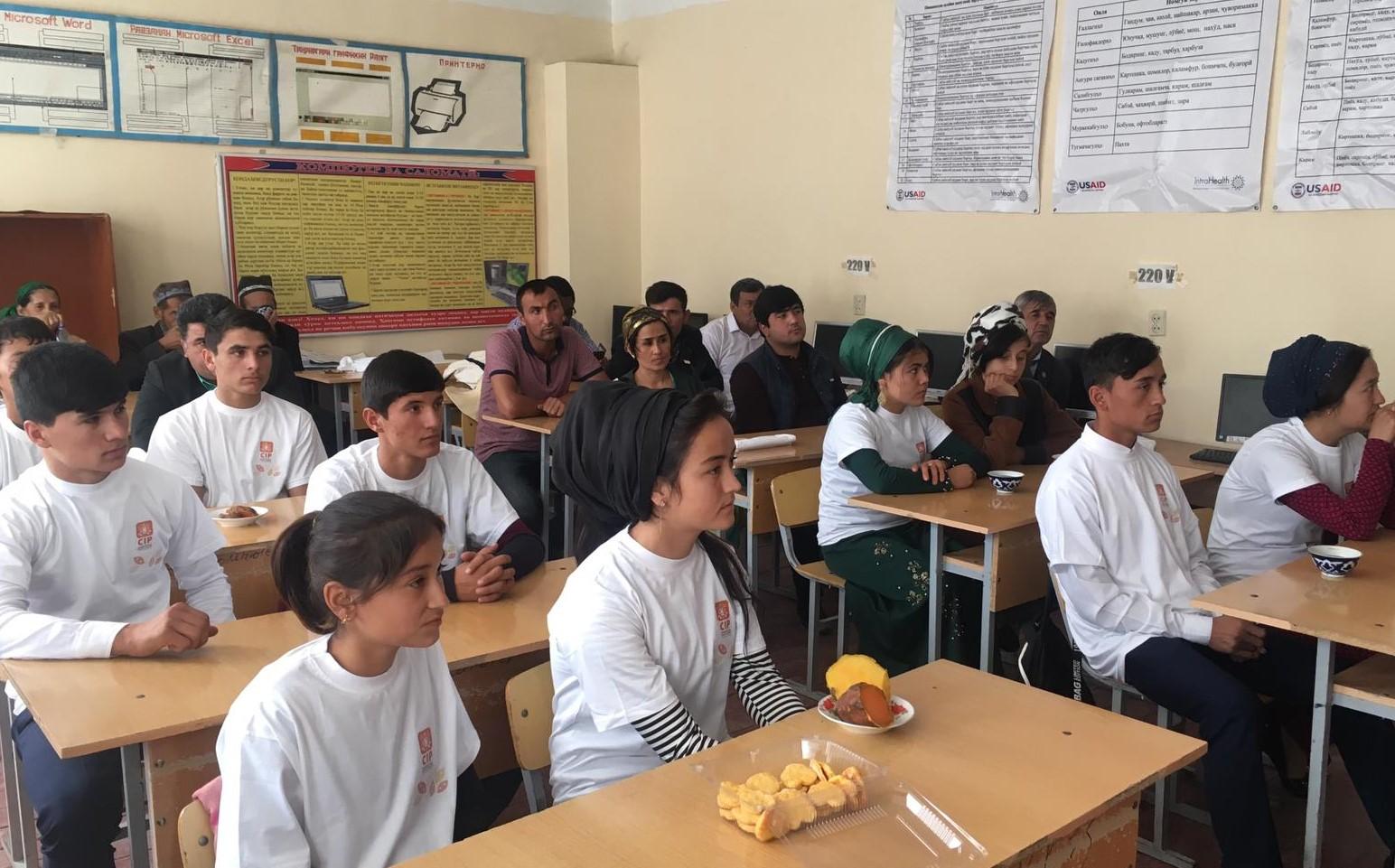 Harvesting Event at school